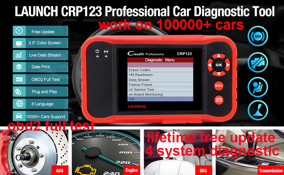 launch crp123 abs srs engine tcm scan tool