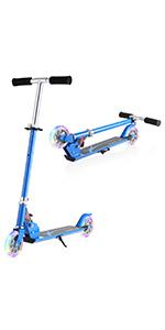 Rotation /à 360 Degr/é,R/ésistante aux Acrobaties et Sauts,79cm de Hauteur,100kg de Charge Hikole Trottinette Freestyle Pro Enfant