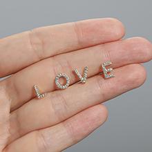 Love initial stud earring