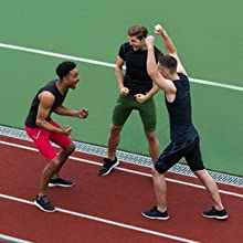 Athlete Team make Winner Gesture