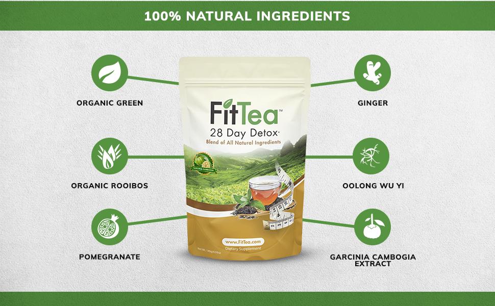 100% Natural Ingredients Fit Tea