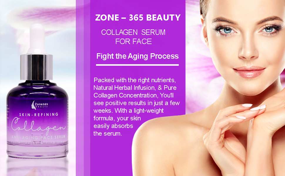 Help Fight the Aging Process with Zone – 365 Beauty Collagen Serum for Face