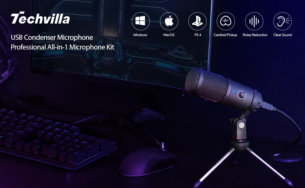 Techvilla USB Microphone Condenser Microphone
