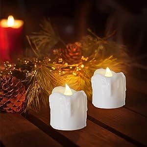 PChero Halloween Christmas Decor Tea Light Candle