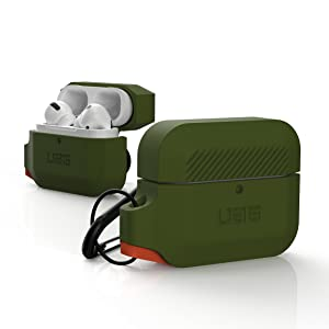 URBAN ARMOR GEAR UAG AIRPODS PRO SILICONE CASE ORANGE OLIVE RUGGED TOUGH STRONG MILITARY DROP TESTED