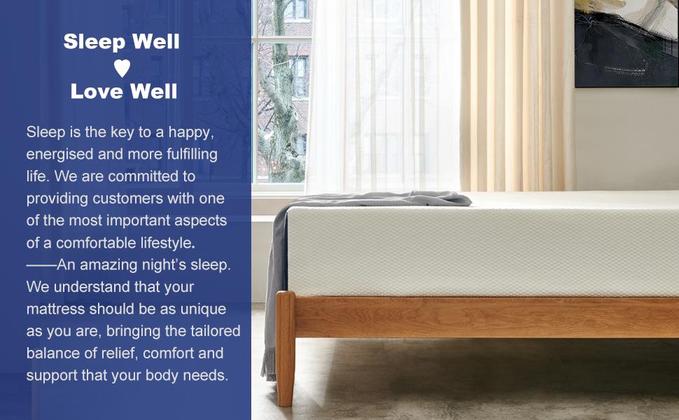 memory foam bed mattress in a box