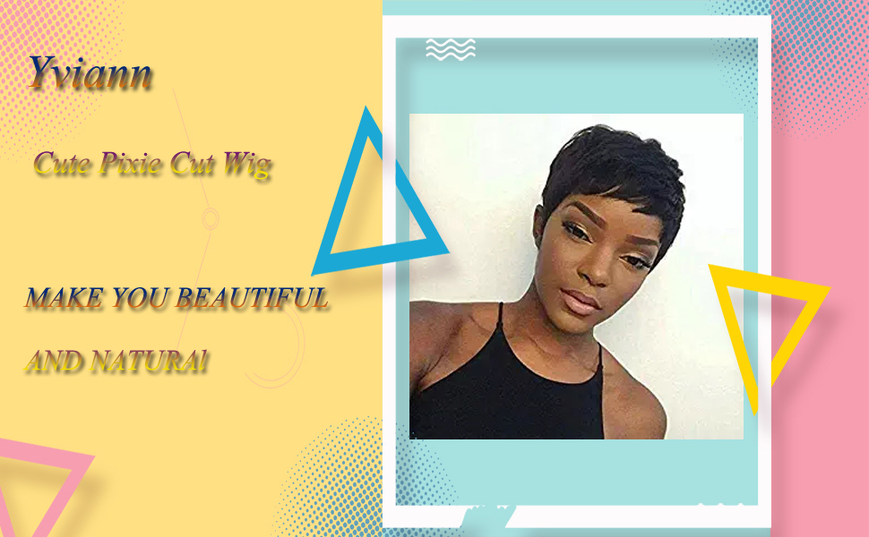 short black human hair wigs pixie cut wigs for black women black girl wigs ladies wig brazilian hair