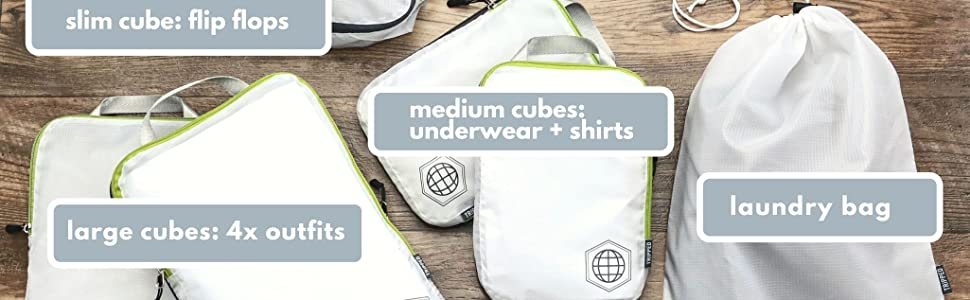 compression cube set, compression packing cubes,