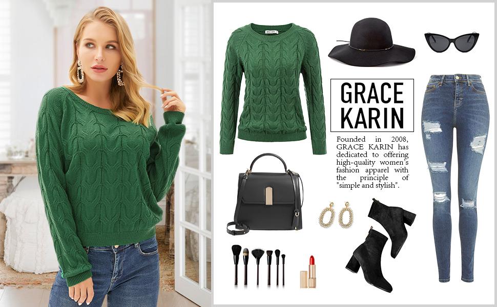 grace karin knit sweater