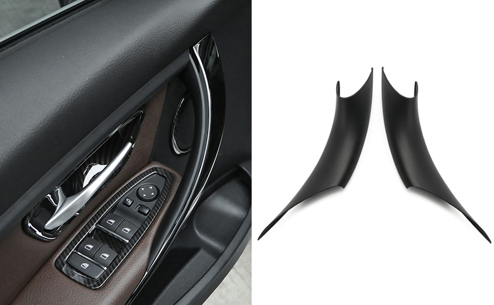 Reunion 4pcs Puerta de Acero Inoxidable Interior del Marco manija Decorativa en Forma for el BMW Serie 3 F30 F31 F34 F35 316 318 335 320Li 328Li 3GT