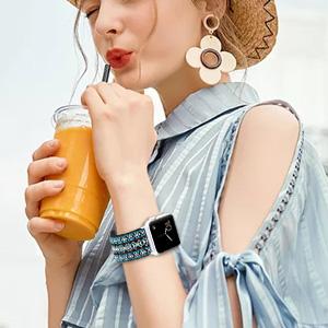 adjustable elastic Apple watch band