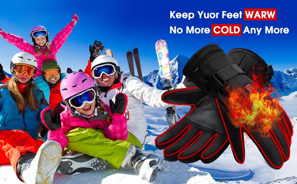 men women heated gloves for men women rechargeable battery heated gloves kit climbing hand warmer