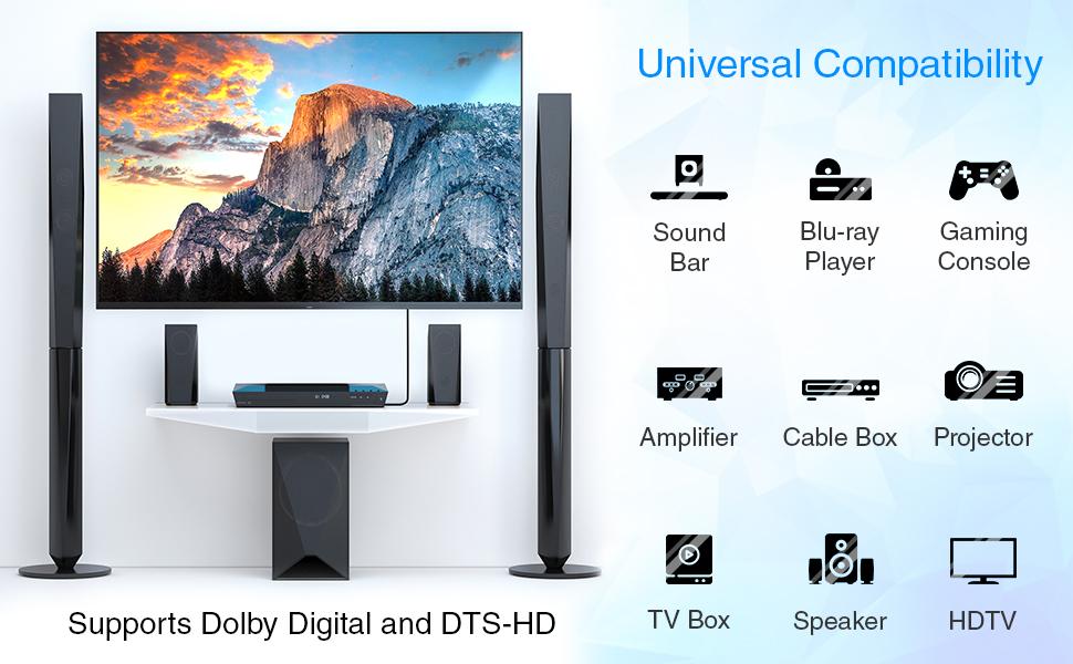 BlueRigger toslink digital optical audio cable toslink optical cable toslink fiber optic cable