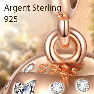 4 pendentif charm fleur en argent sterling 925 pour tous les saxophones charmtr/äger 713018 000 Nenalina 802038