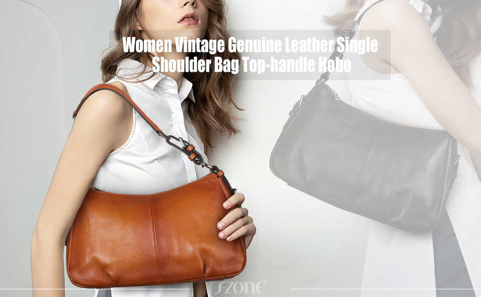 genuine leather shoulder bag for women