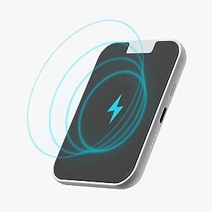 iWALK bateria Externa inalambrica,3000mAh Cargador inalambrico Universal Compatible con iPhone 11, XS, XR, X, 8,Plus, Samsung Galaxy S10, S10+, S9, ...