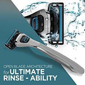 Open Blade Architecture for Ultimate Rinse Ability