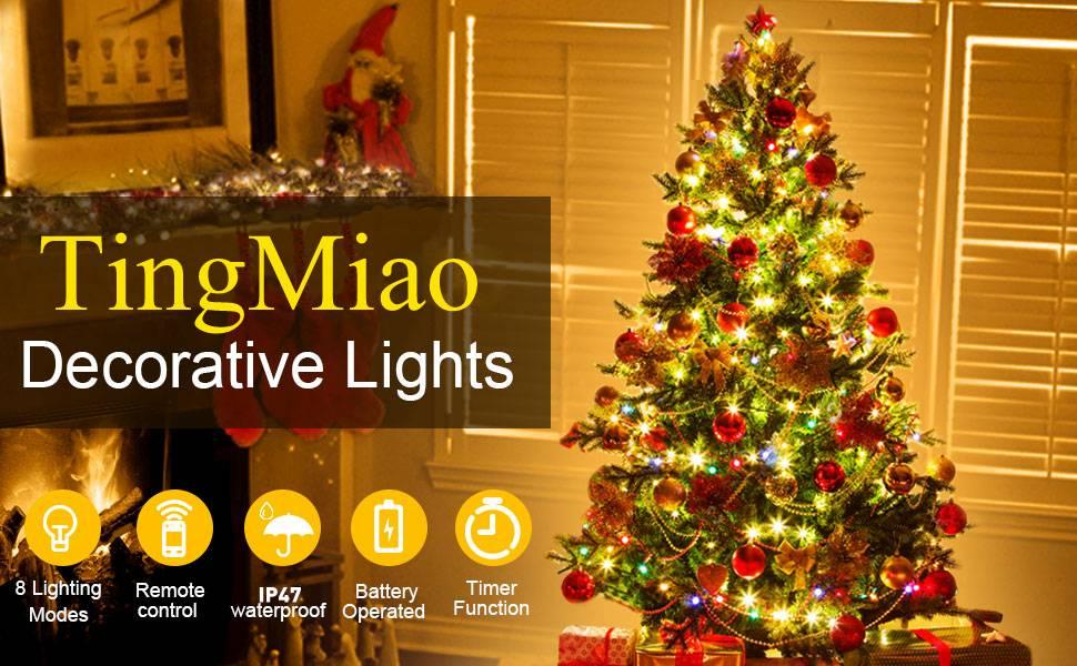 Indoor Use 15 Battery Operated Multi Coloured LED Christmas Tree Fairy Lights