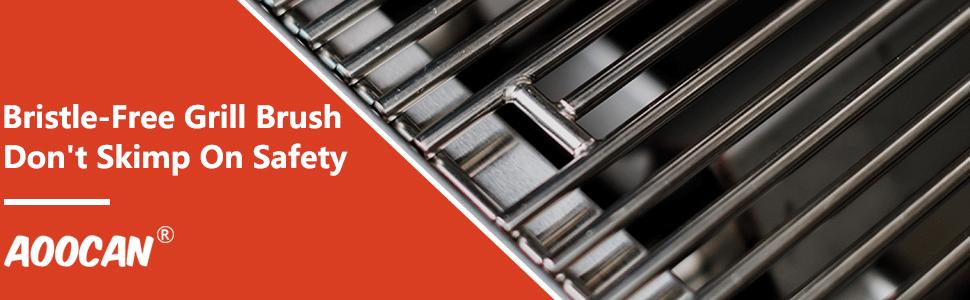 safe bristle free grill brush