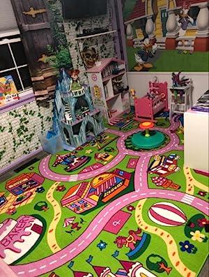 Amazon Com Mybecca Kids Rug 5 X 7 Colourful Fun Land Theme Park