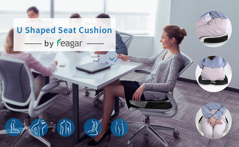 U shaped seat cushion
