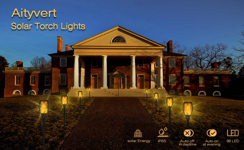 Aityvert solar torch lights