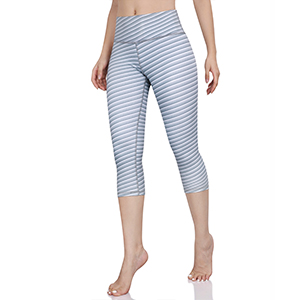 ODODOS High Waist Pattern Yoga Capris Leggings