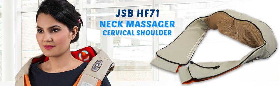 JSB HF71 Neck Massager for Cervical Shoulder Pain Relief