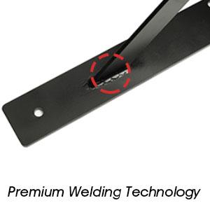 black metal steel heavy duty shelving brackets