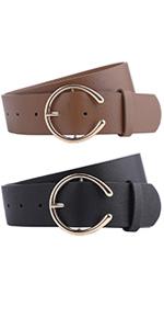 C buckle belts women