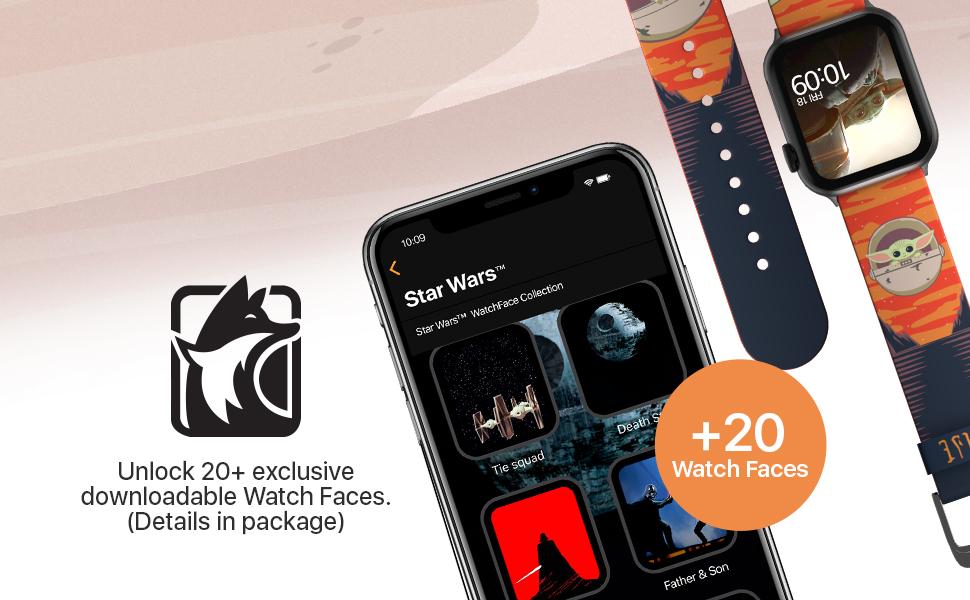 Star Wars The Mandalorian - The Child Bounty Smart Watchband