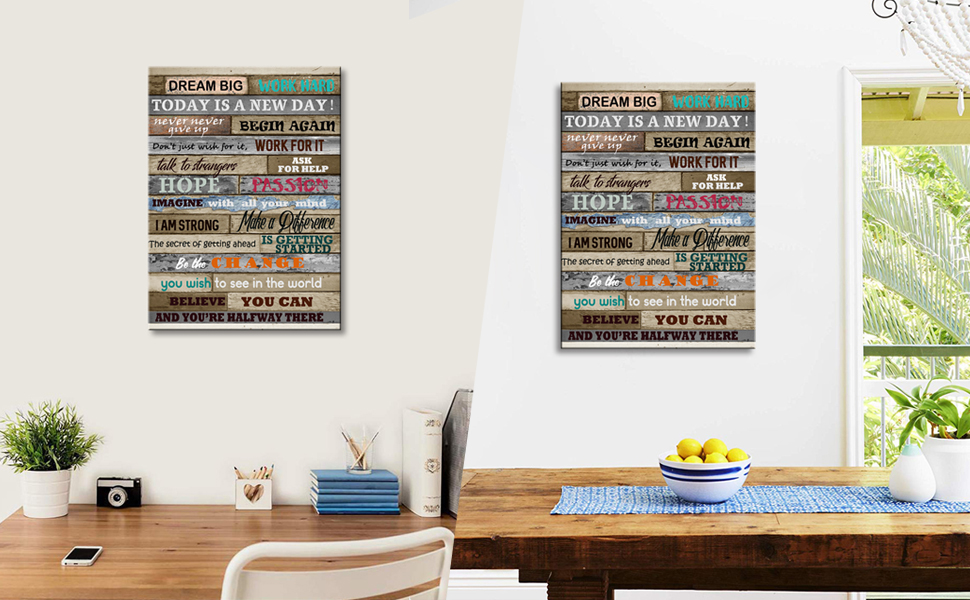 inspirational wall art for office decoration