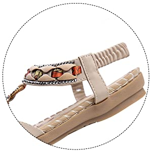 Casual Wear Flat Sandals comfort walking sandals spring sandals bohemian ankle strap casual ladies