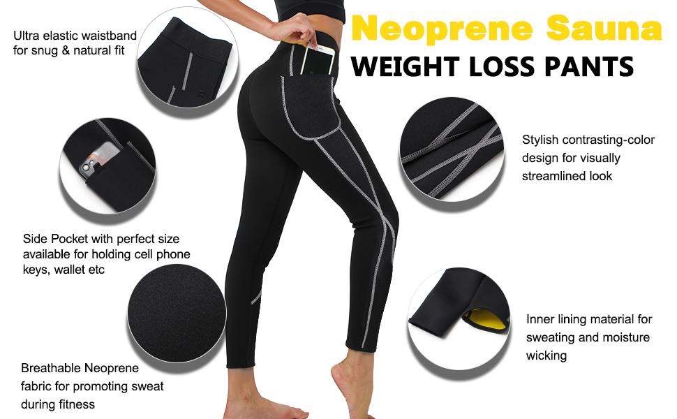 Neoprene weight loss pants slimming pants