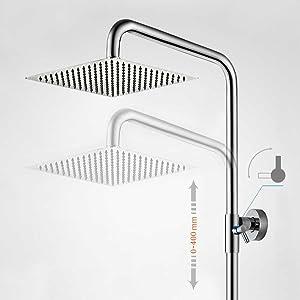 Höhenverstellbare Duschsäule