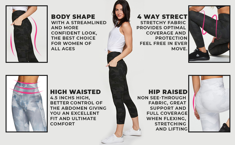 Body Shape, High Waisted, 4 Way Stretch, Hip Raised