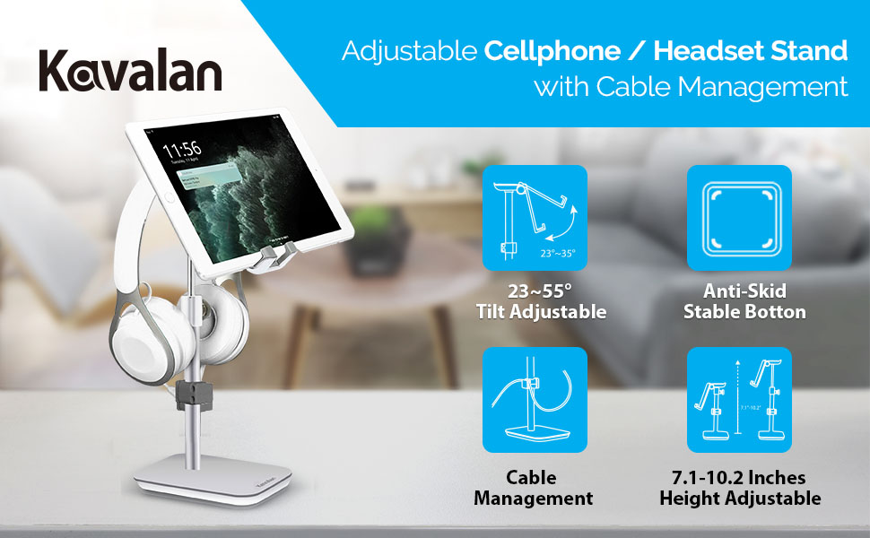 adjustable cellphone stand, cellphone stand, ipad stand, height adjustable, cable management
