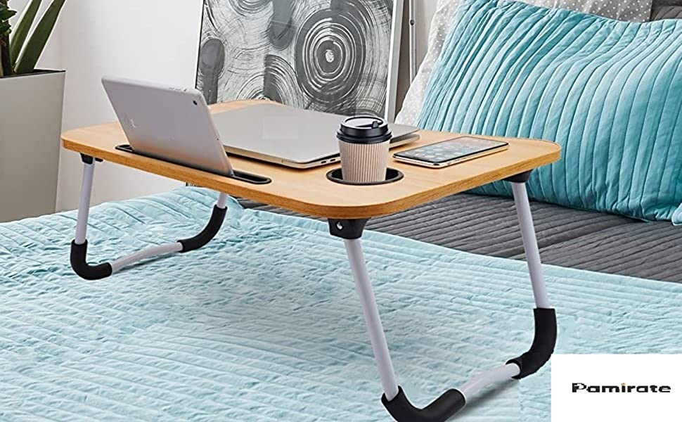 laptop stand lapdesk for writing riding break fast table mobile stand foldable bed table