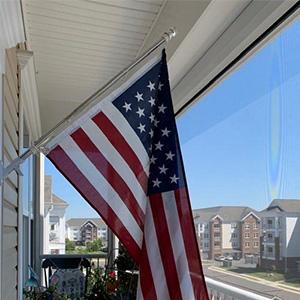 flag in balcony