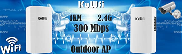 KuWFi Wireless Bridge Outdoor AP