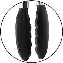 black silicone tongs