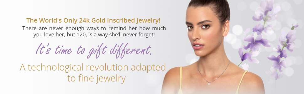 A technological revolution the 12 Languages necklace the world's only 24k gold inscribed jewelry