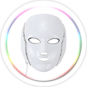 led light therapy face mask red blue light beauty lexi white