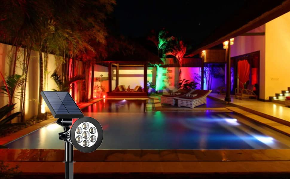 solar lights for yard decarotion pool