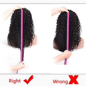 how to measure the lace wig