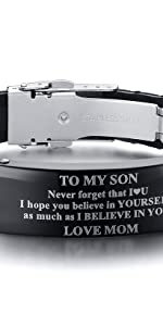 to my son wristband