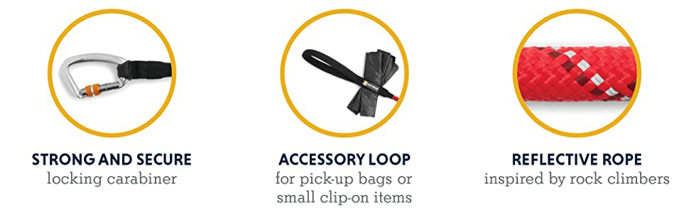 Strong and secure, accessory loop, reflective rope