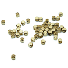 small gold color golden bronze shine luster brand new sturdy nugget cube piece