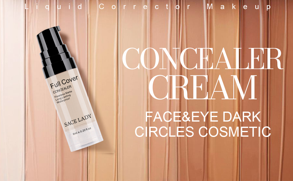 SACE LADY full coverage concealer cream makeup cover dark circles eye spots blemishes