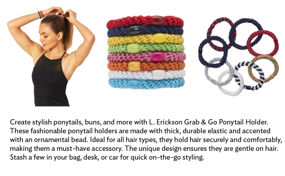 womens hair ties elastic bands ponytail holder